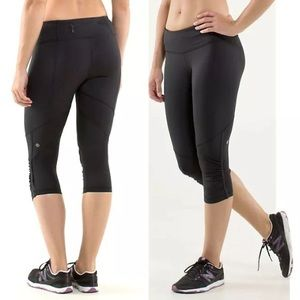 Lululemon Run For Your Life Crop Black 6
